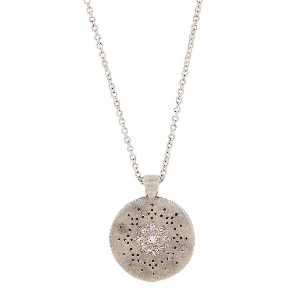 Adel Chefridi Diamond Reflections Pendant Necklace