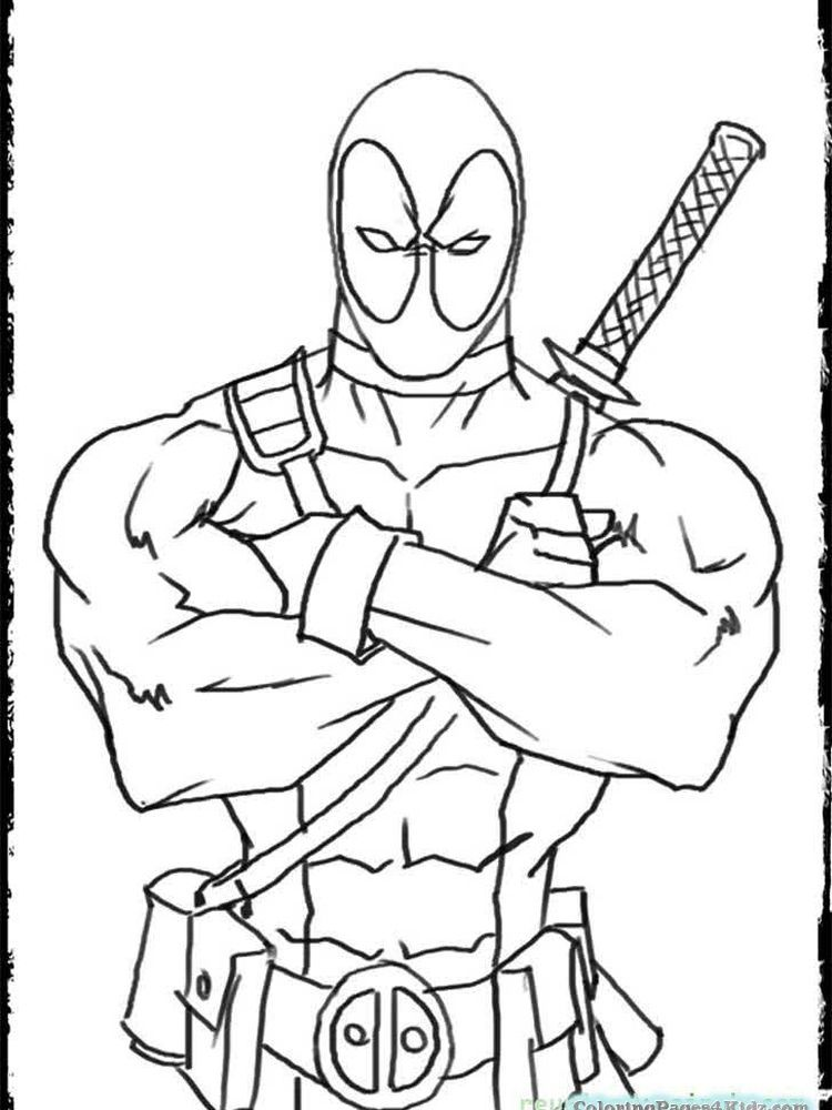 Deadpool Coloring Book Pages Below Is A Collection Of Deadpool Coloring Page Which You Can Downl In 2020 Cartoon Coloring Pages Coloring Pages For Kids Coloring Books