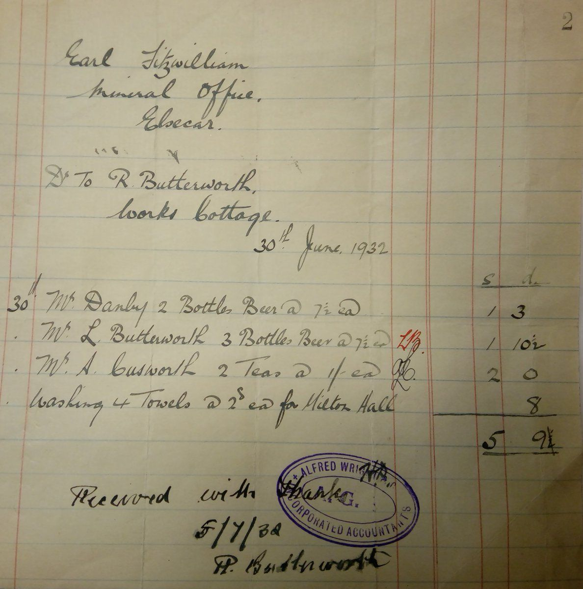 The Mineral office at Elsecar... Math, Sheet music