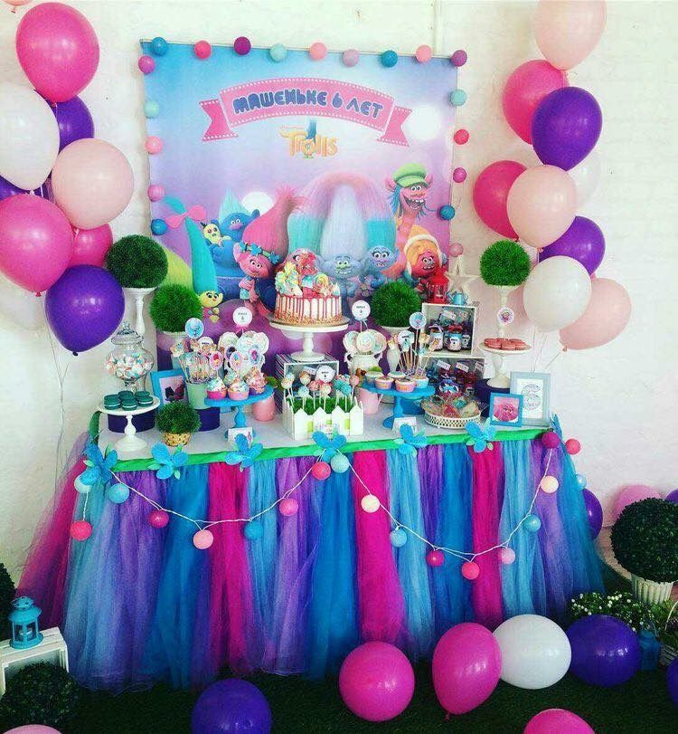 Balloon colors   Olivia Party Ideas   Trolls birthday ...