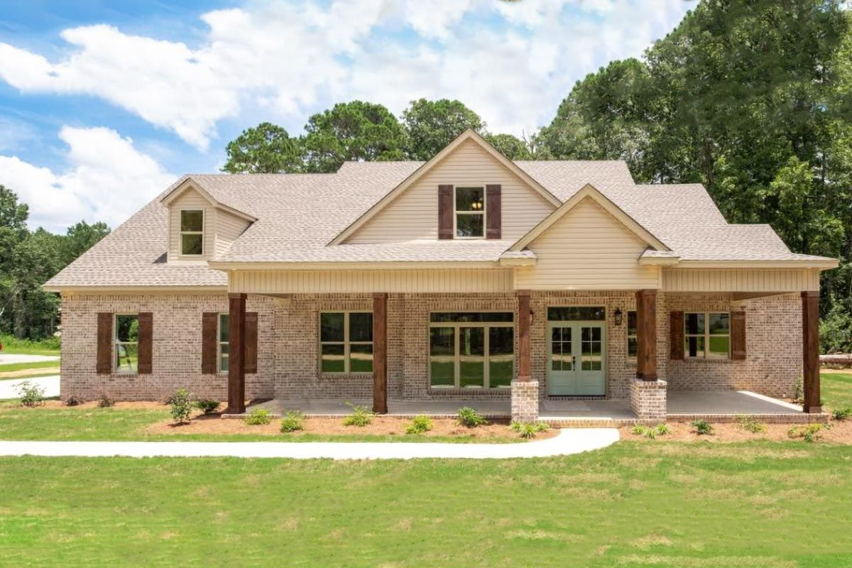 Plan 86313hh 4 Bedroom Traditional Craftsman Home With Enclosed Game Room And Den Brick Exterior House Brick House Plans Craftsman House Plans