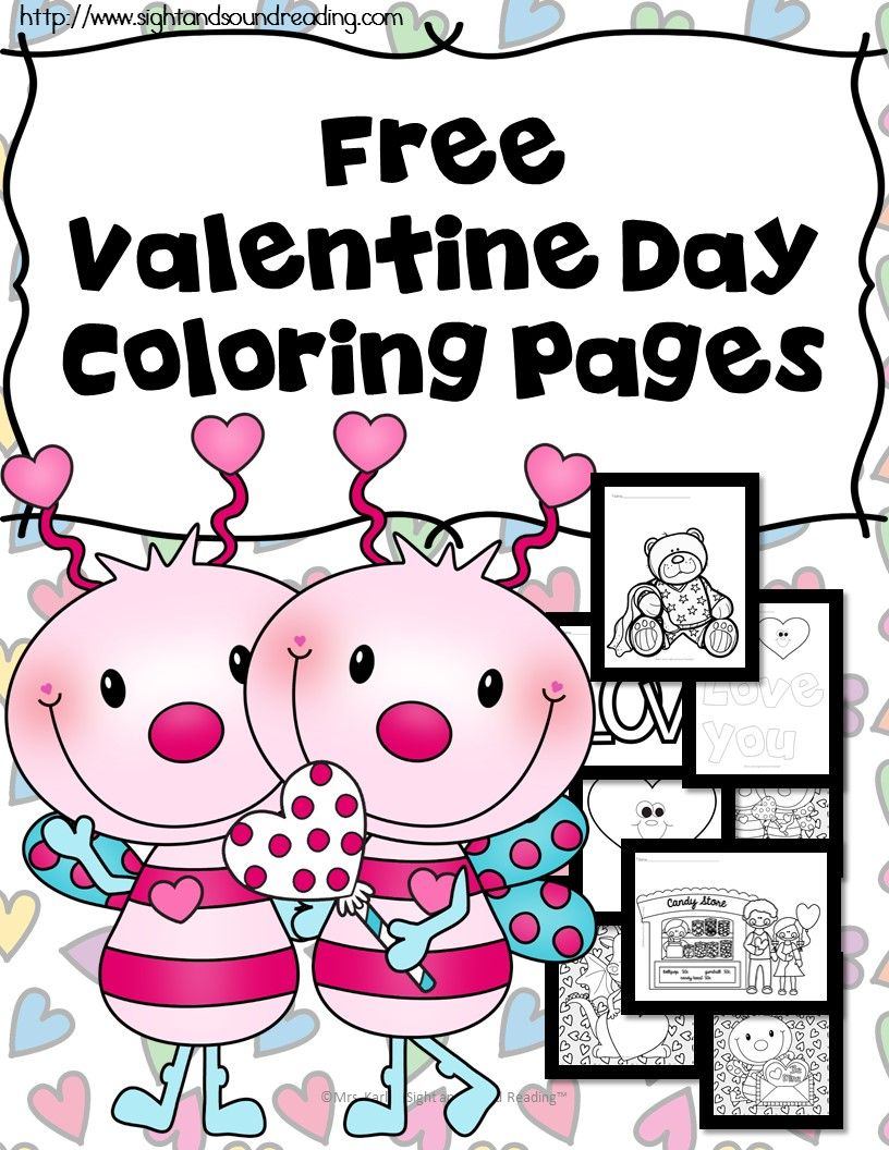 Printable Valentine Coloring Book Pictures for Kids | Valentines ...