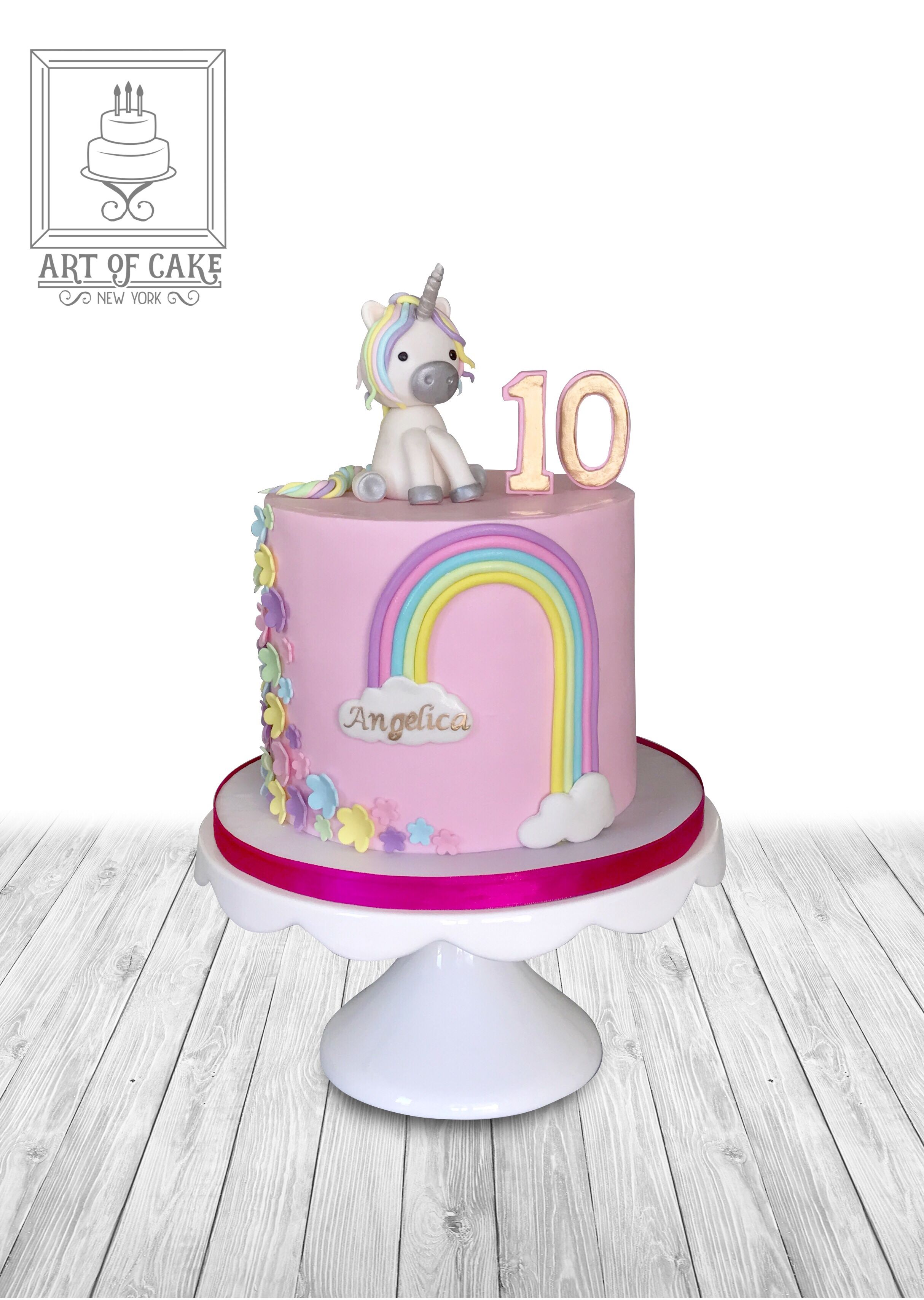 Unicorn Rainbow Birthday Cake Custom Cakes Queens Happy 10th Nyc