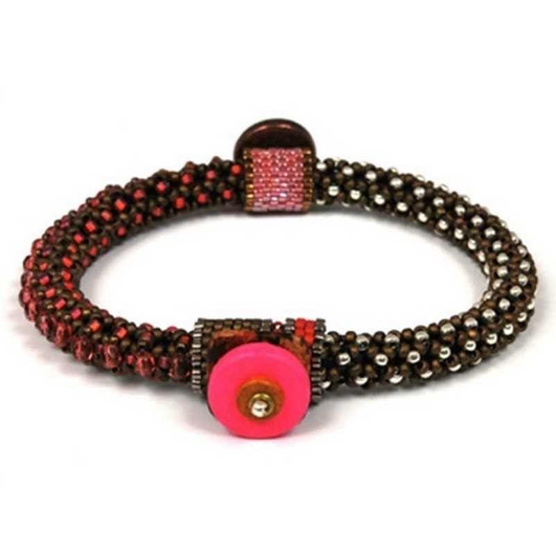 Bead Kits-Circle Of Gems Summertime-Single Bracelet Kit-Bubble Gum-Pattern Sold Separately