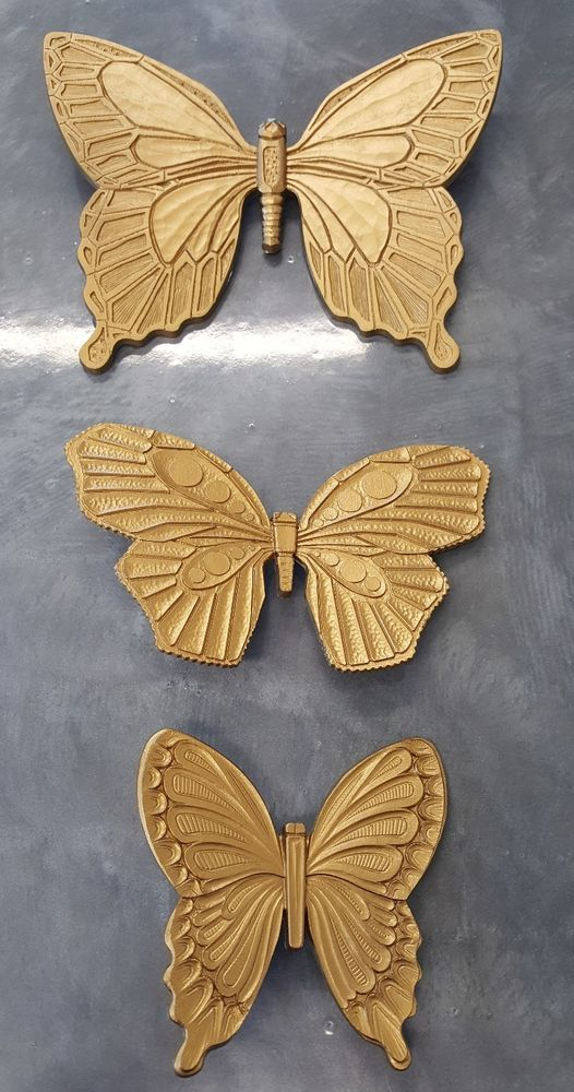 Details About Syroco Gold Butterflies 1968 Garden Burwood Outdoor