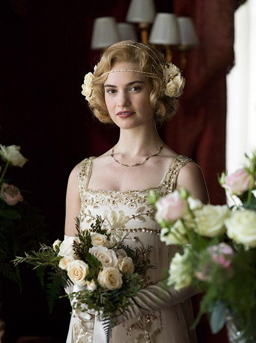 Amazing Downton Abbey Lady Rose us wedding dress is revealed in finale Photo Celebrity news