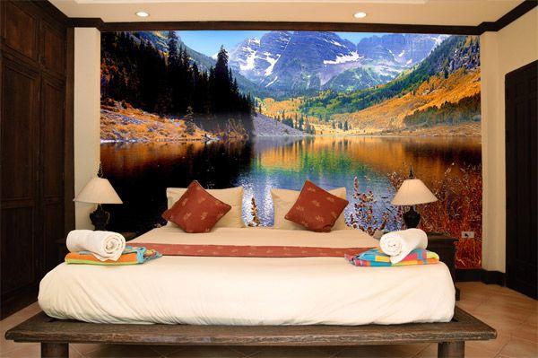 Papier peint vinyle Maroom Lake | Papier peint, Papier peint vinyle et Papier peint paysage