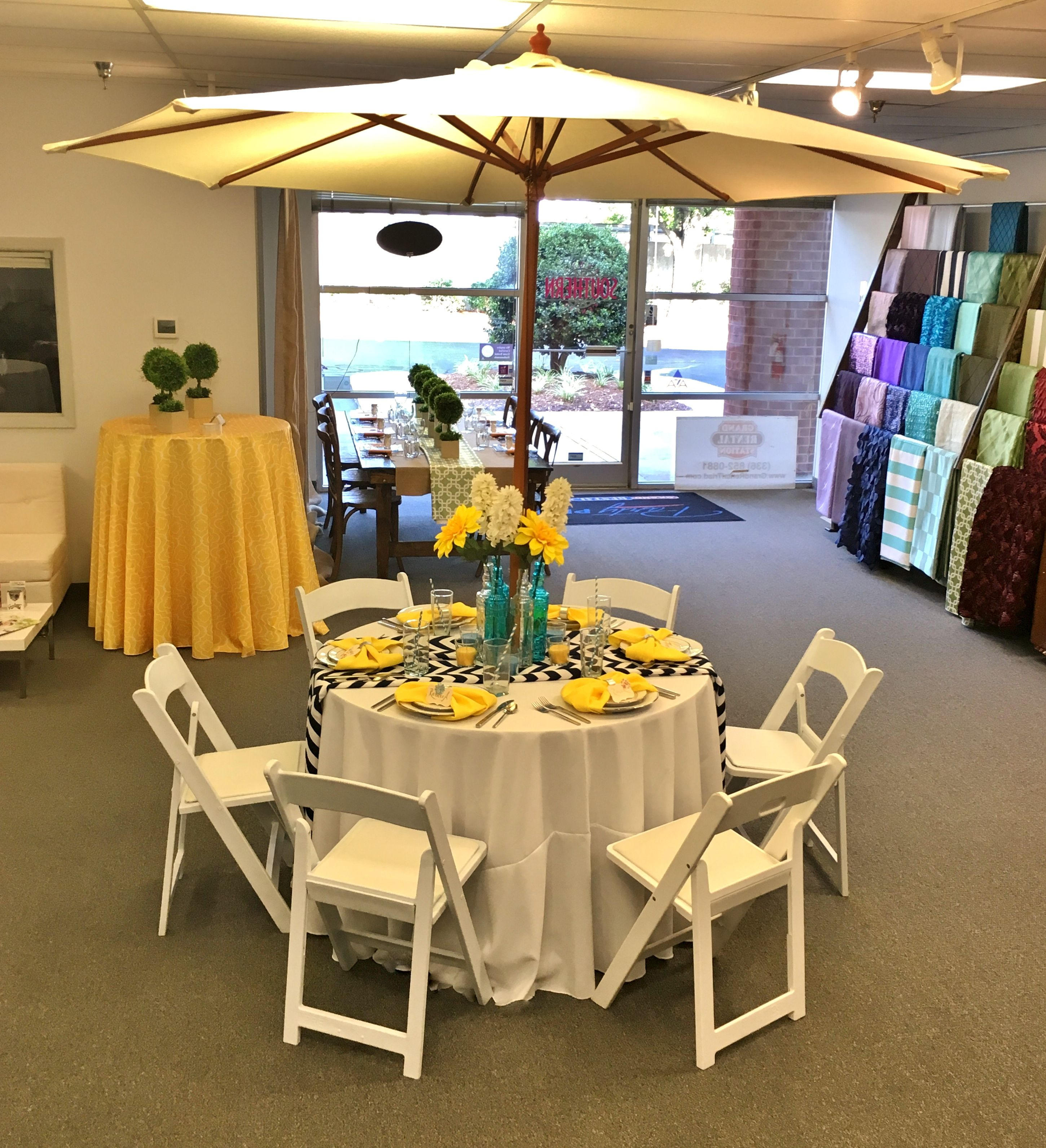 Here is a sample of a cozy outdoor reception table with ...
