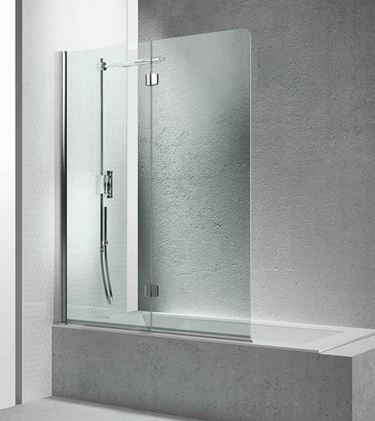 Cabina doccia vasca Cabina in vetro parete pieghevole 3 parti Nano ...