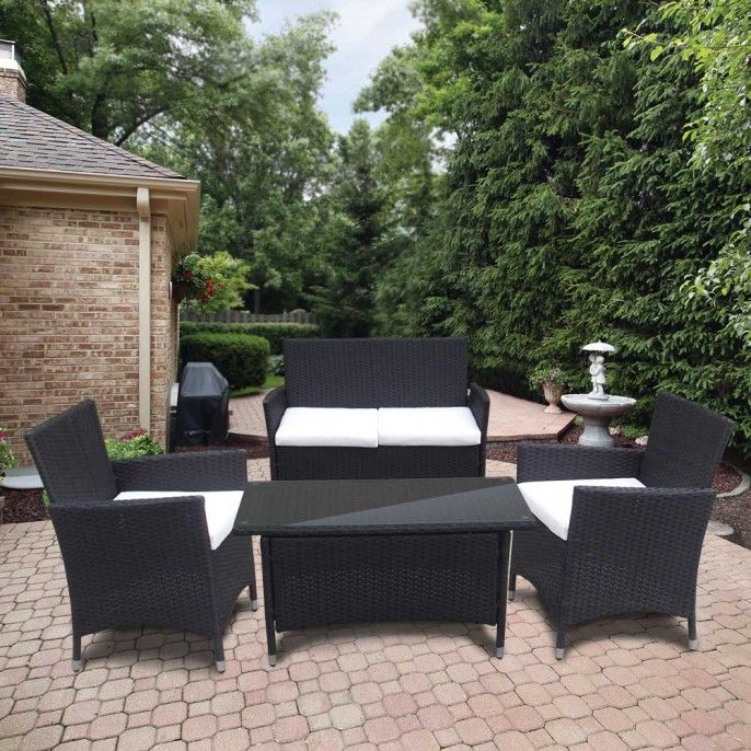4 PIECE RATTAN SET   Garden Furniture   Garden   Outdoor   Poundstretcher. 4 PIECE RATTAN SET   Garden Furniture   Garden   Outdoor