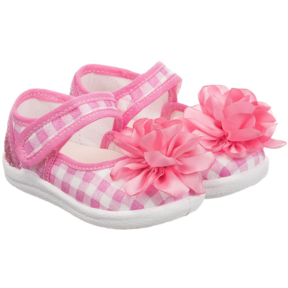 8721bce0e27 Girls Pink Canvas Shoes | Baby girl