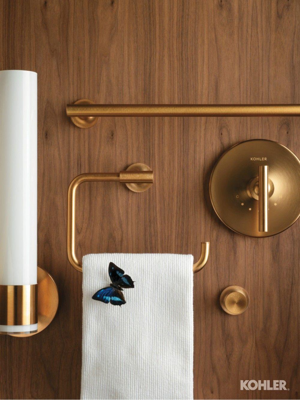 Gleaming Gold Bathroom Modern Towel Bars Bathroom Towel Bar