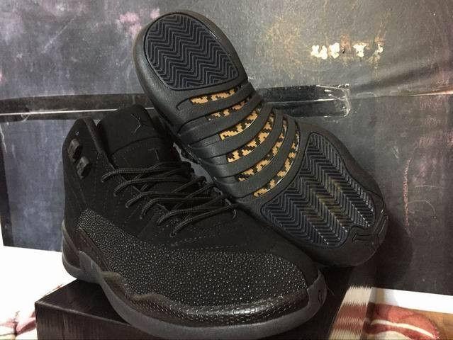 Men's Nike Air Jordan 12 Retro Ovo Drake Black