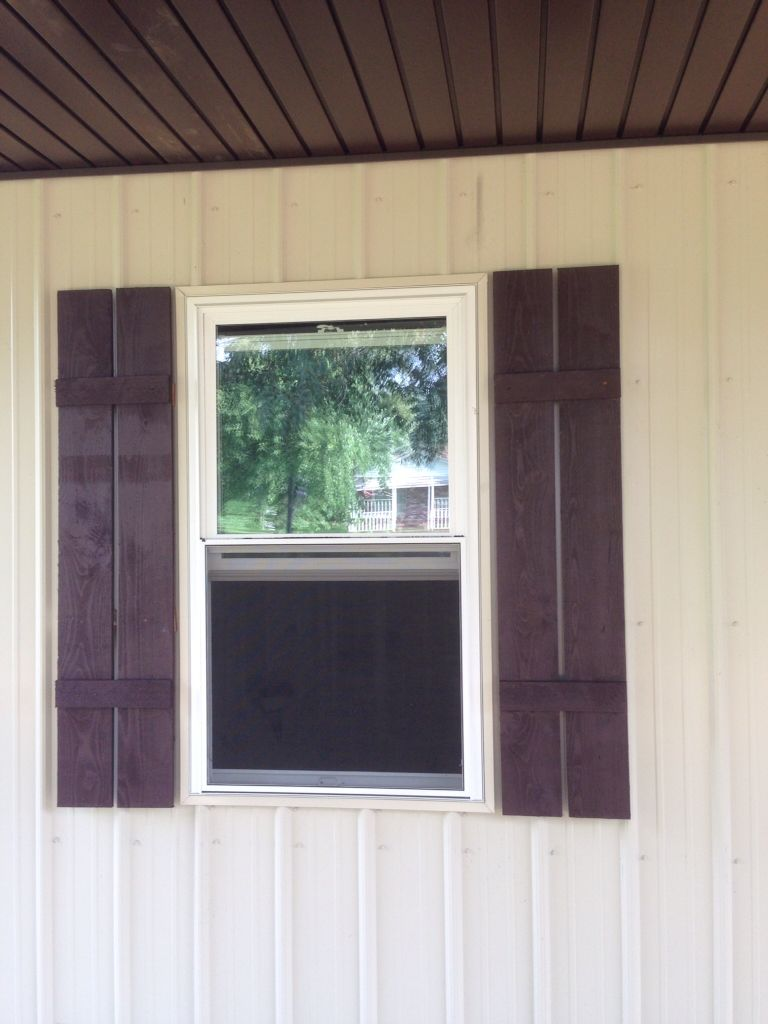 Diy cedar shutters across the way my post frame home pinterest