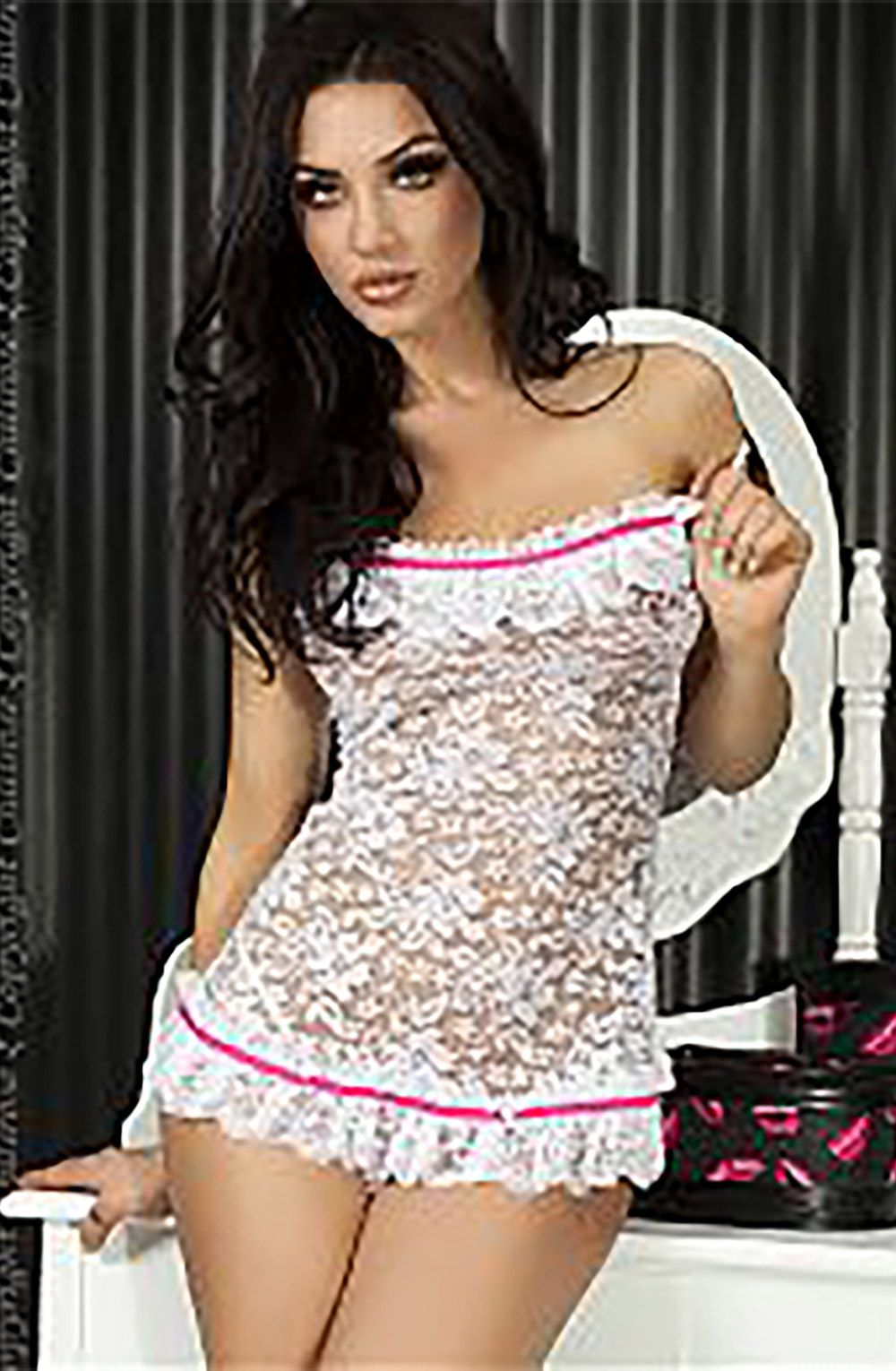 Sexy nude bridal lingerie matchless