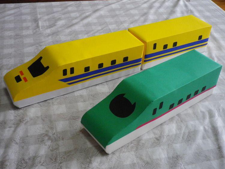 牛乳パック新幹線 作り方 仕上げ3 手作りおもちゃ 手作りおもちゃ 3歳 電車 おもちゃ