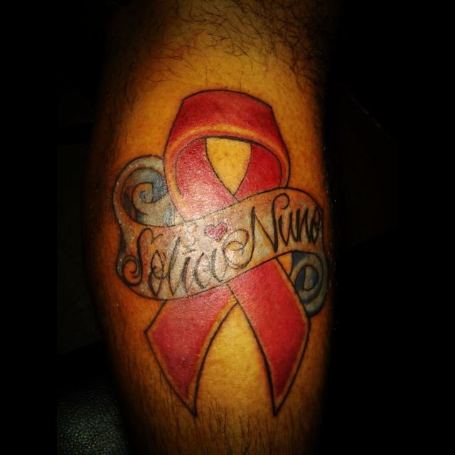 Brest cancer tattoo