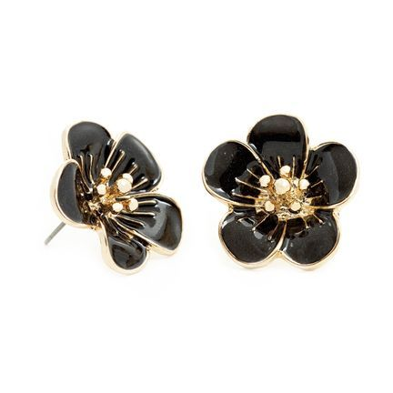 The Rachel, black and gold rose earrings are spectacular. ...