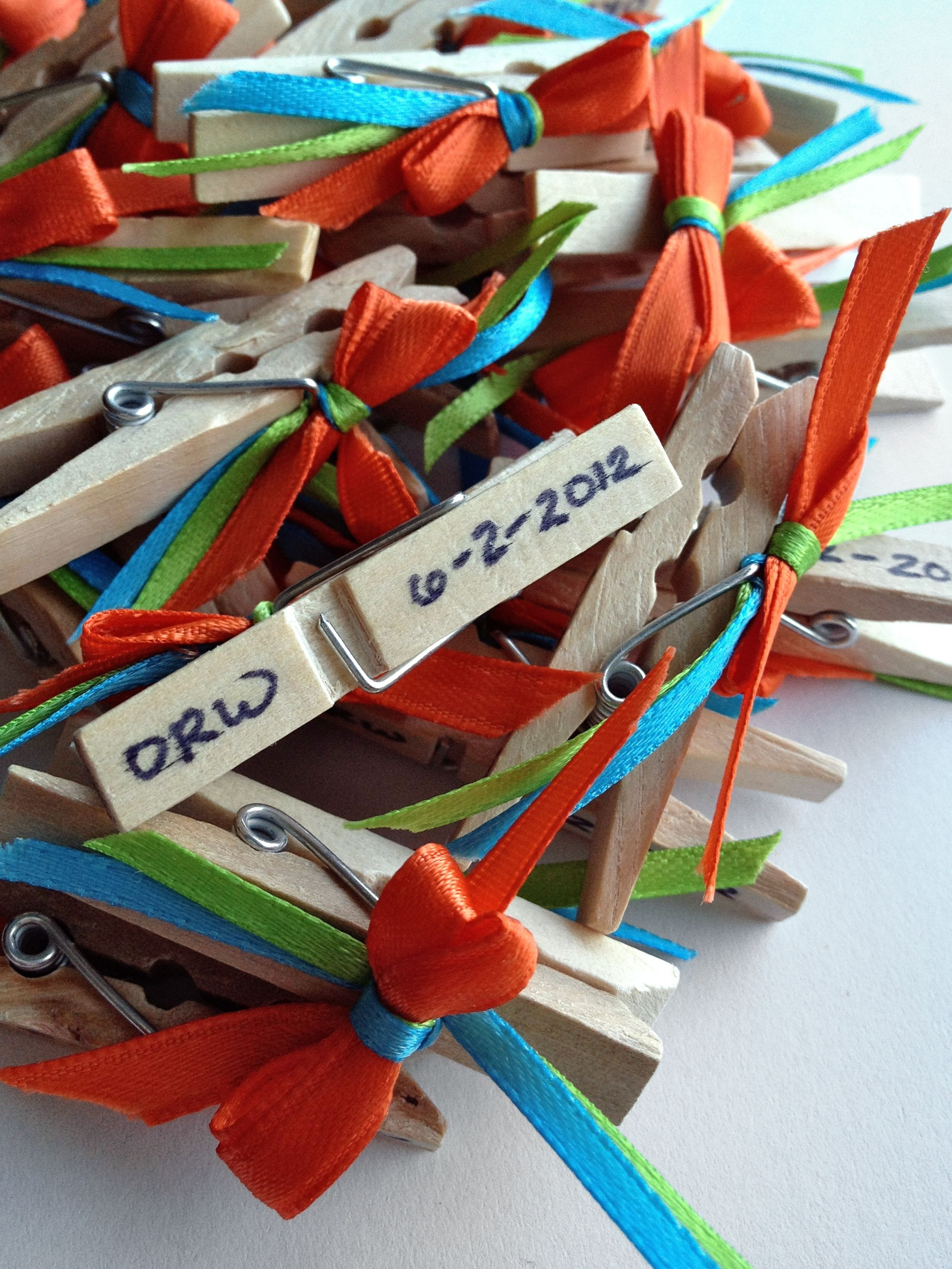 Personalized Clothespins Double As A Baby/bridal Shower Game And As A  Little Favor For