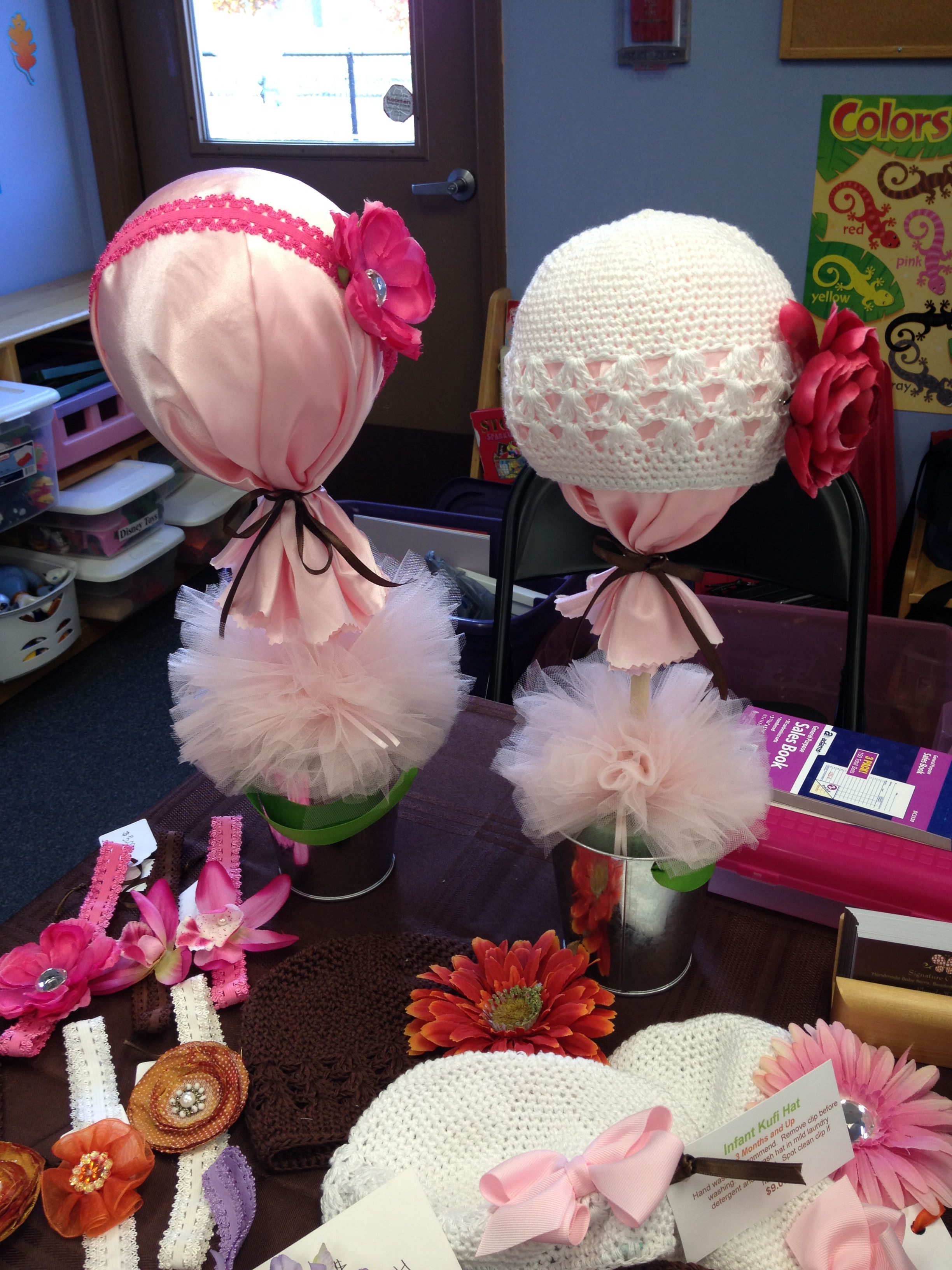 My Hat And Headband Displays I Made Last Minute For A Vendor Fair Craft Show Display Booth