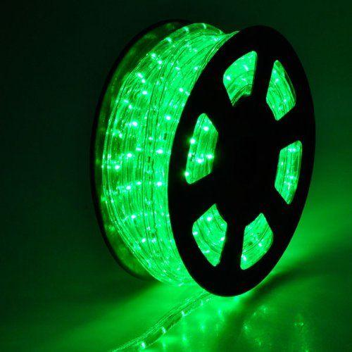 Lighting Flexible Green Illuminated 541 LED Bulbs Rope Light 50ft w