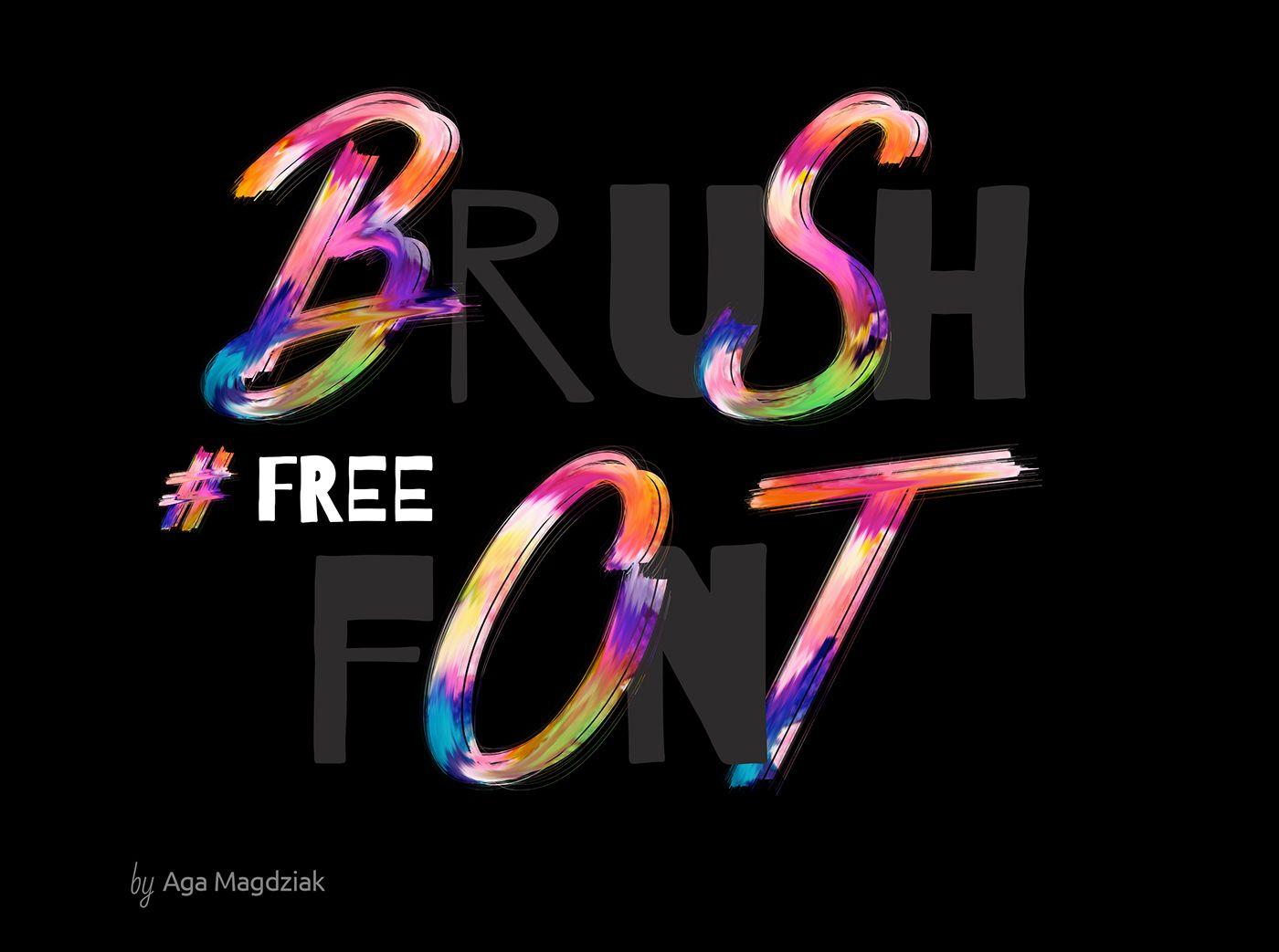 Free Download Brush Font Design Free Fonts For Designers