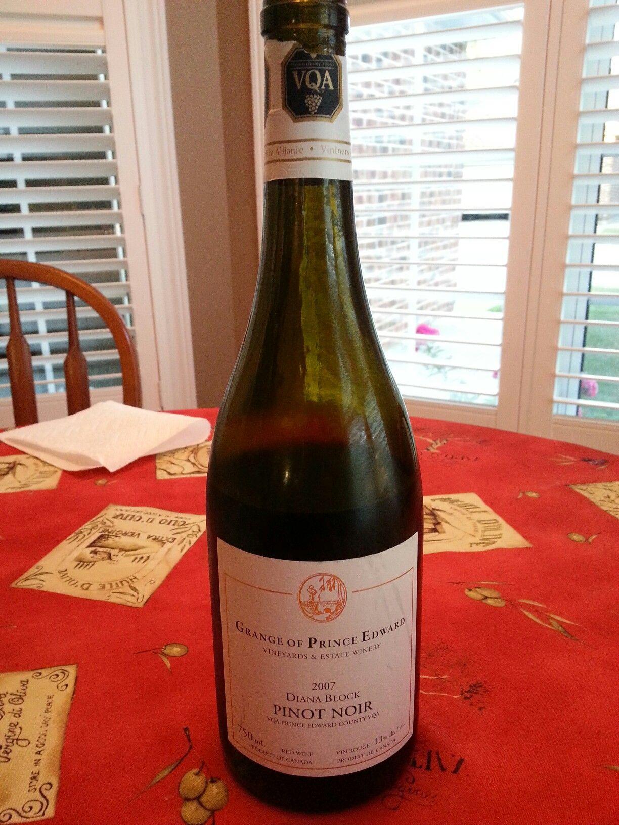 Vqa Prince Edward County Prince Edward County Pinot Wine Bottle