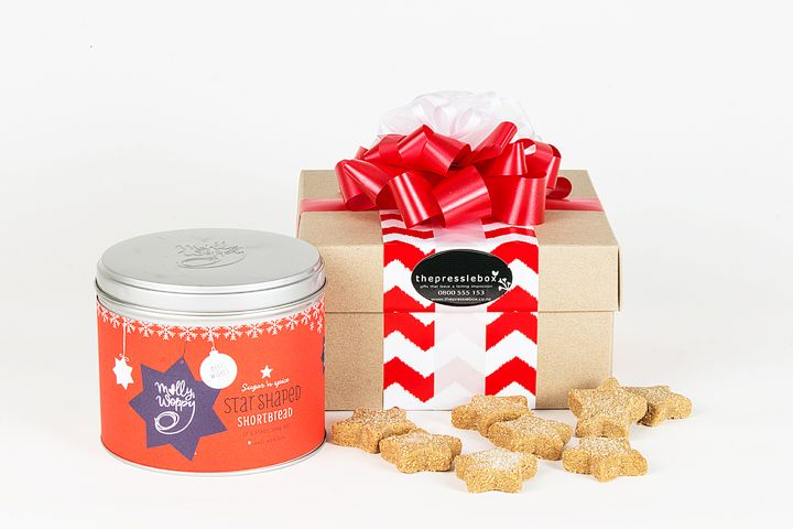 Xmas Cookies in a Tin from The Pressie Box. Personalised and stylish gift hampers and gift baskets in New Zealand.