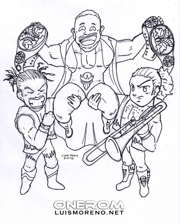 The New Day Wwe By Onerom Luismoreno Net Wwe Coloring Pages