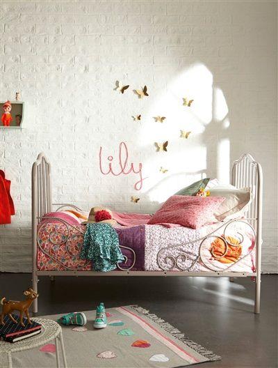interesting volutif bohme en mtal ecrutaupe vertbaudet enfant with lit enfant interiors. Black Bedroom Furniture Sets. Home Design Ideas