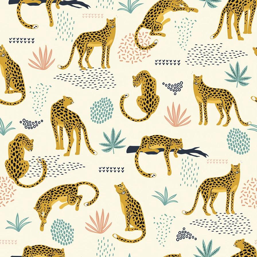 Jungle Cat Leopard Wallpaper Prints Jungle Cat