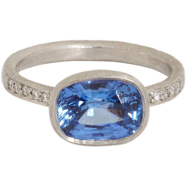 Womens White Diamond & Blue Sapphire Ring Malcolm Betts fTUkPuWQ
