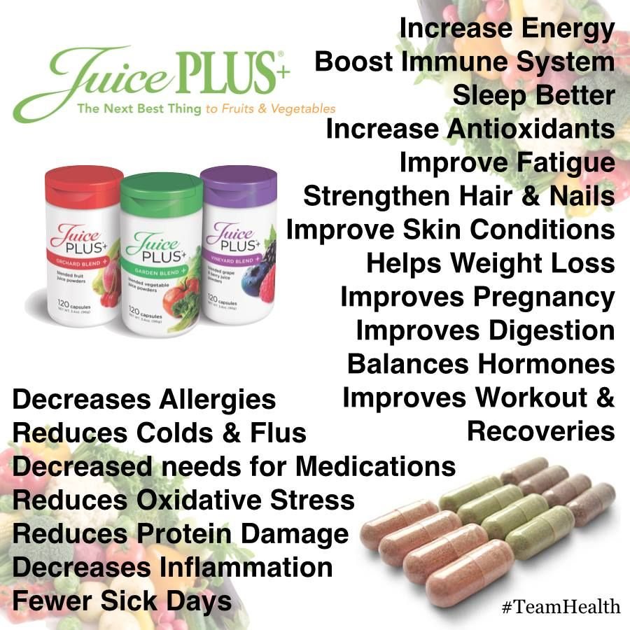 benefits of juice plus - health benefits