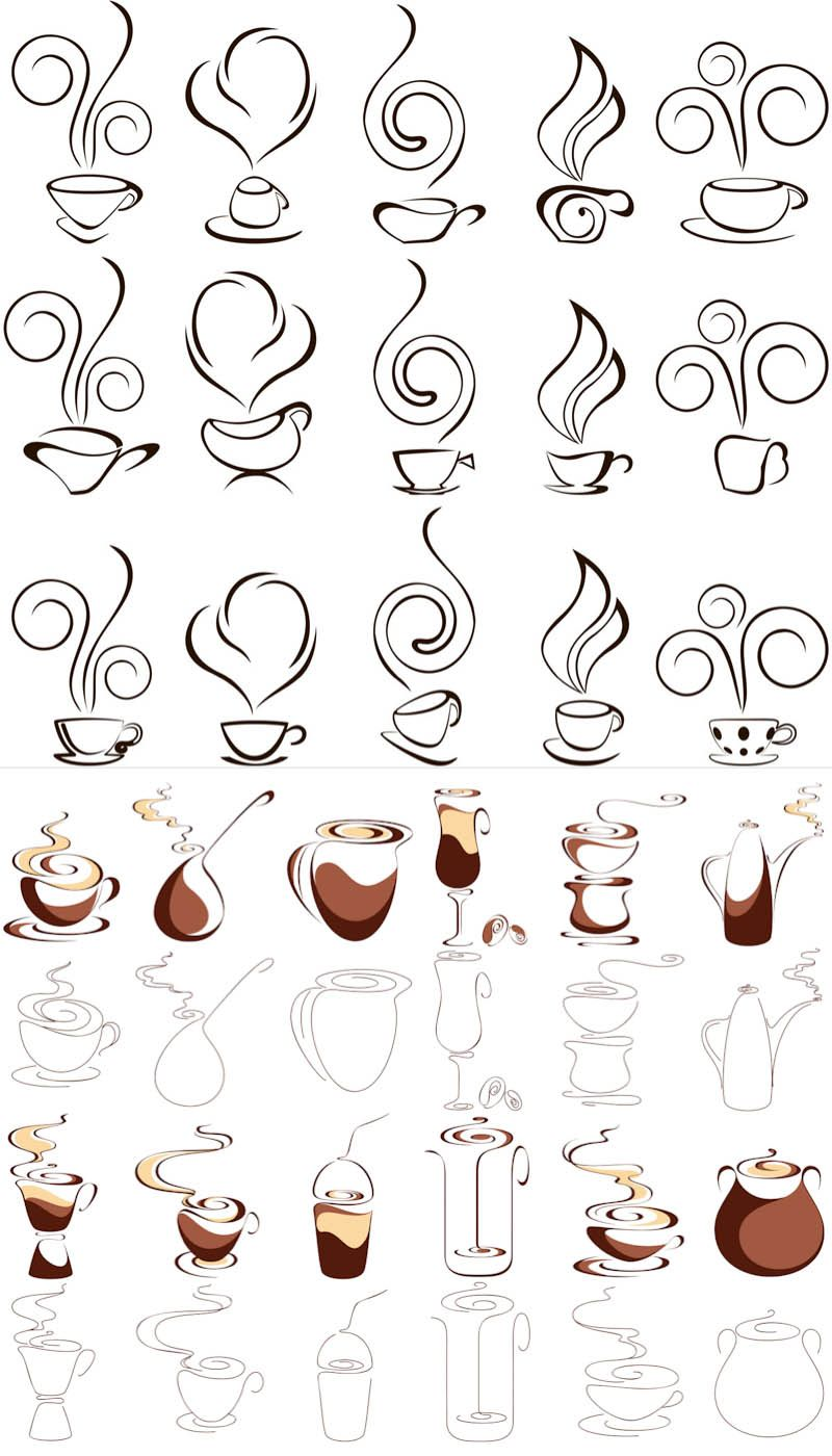 Coffee vector icons