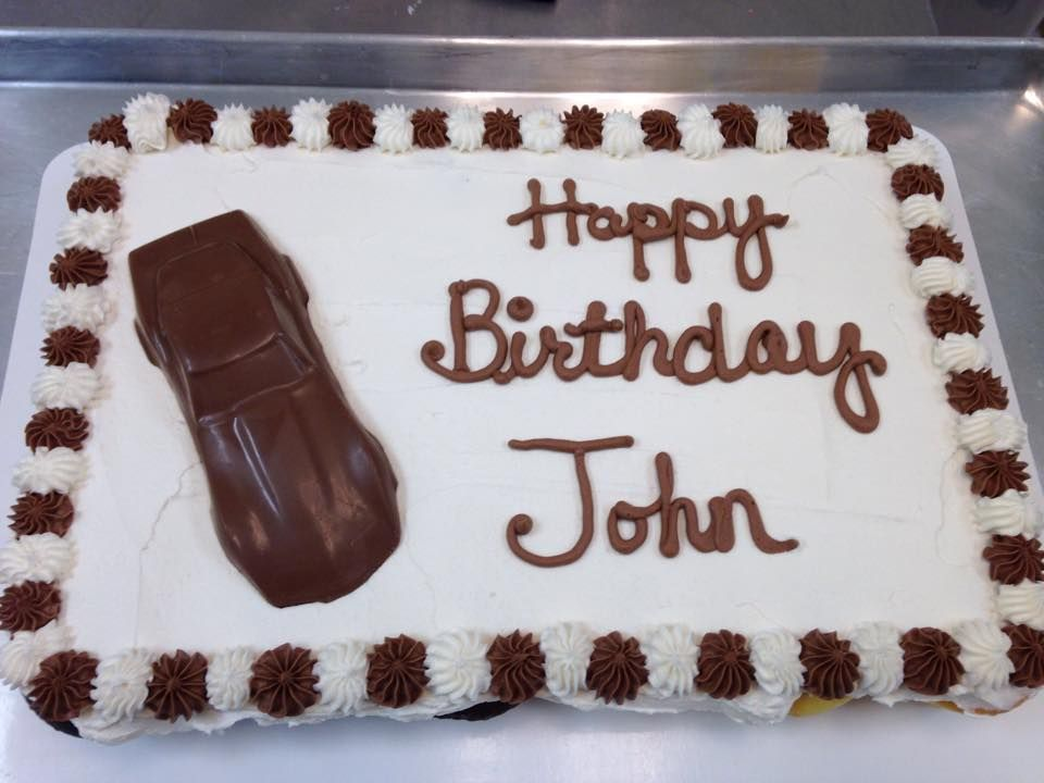 Tremendous Happy Birthday John Cupcake Cake With Chocolate Car With Images Personalised Birthday Cards Sponlily Jamesorg