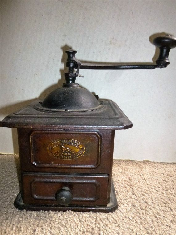 1910s Coffee Grinder by Peugeot Freres of Paris by Funkystuff13