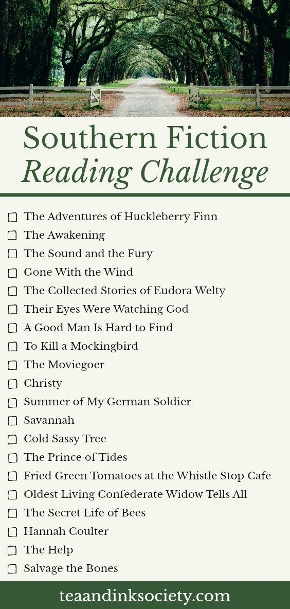 Southern Fiction Reading Challenge is part of Southern fiction, Reading challenge, Book challenge, Book set, Fiction, Best novels - These books set in the South are bestsellers for a reason! Take the Southern fiction reading challenge and get to know some of the best Southern authors