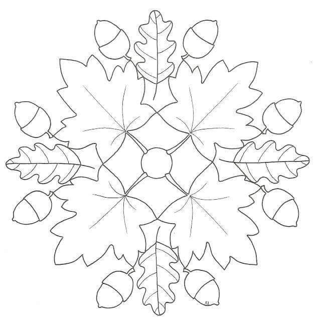 Sonbahar Mandala Etkinlikleri 24 Boyama Sayfalari Mandala