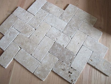 Herringbone Travertine Tile Floor Travertine Bathroom Travertine Floor Tile Foyer Flooring