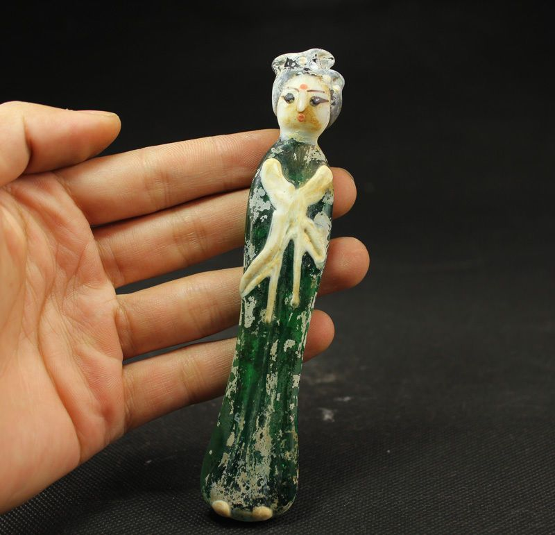 Altes Schöne Zierobjekt Edeldame Adlige Skulpturen,Glas,China selten in Antiquitäten & Kunst, Internationale Antiq. & Kunst, Asiatika: China | eBay
