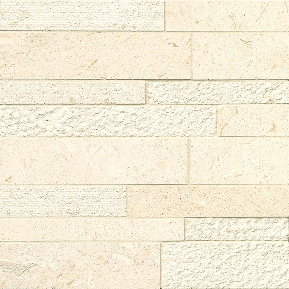 Corinthian White - BEIGE Decorative Mosaic - LMNCORWHTLNR | Bedrosians Tile & Stone