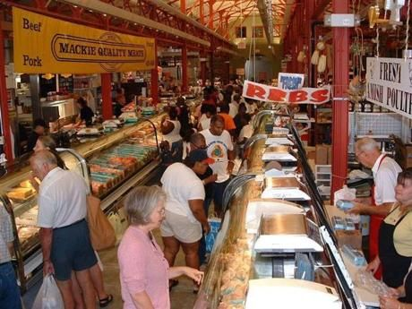 Findlay Market S Endless Butcher Counters Many Filled With Sausages Speak To Cincinnati German Heritage