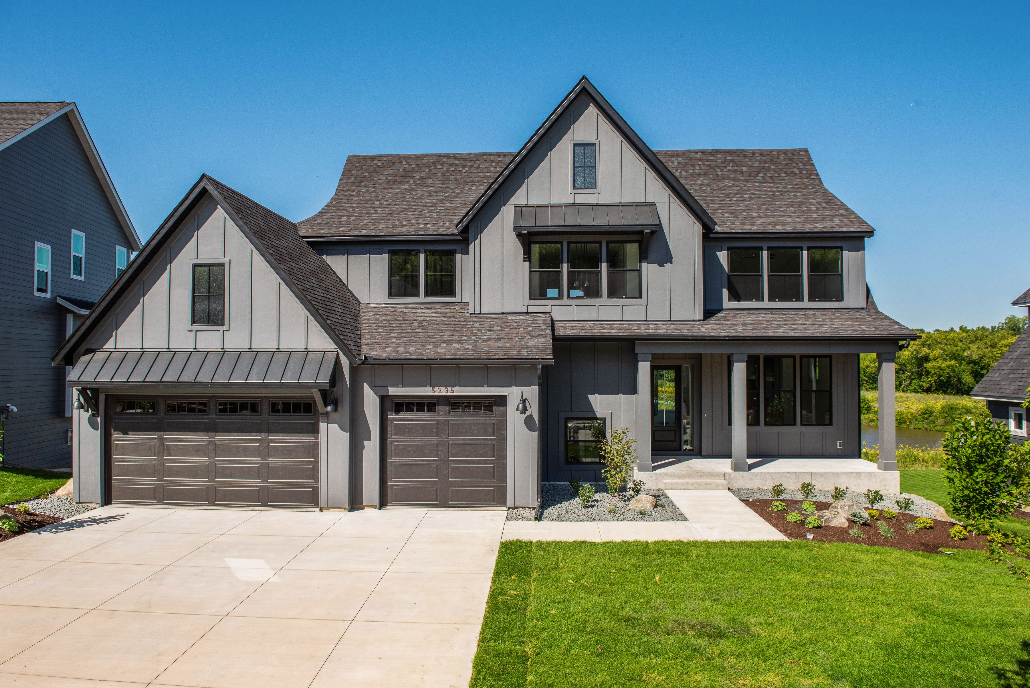 Custom Home Westpoint Sport In 2020 Gray House Exterior Grey Exterior House Colors Exterior Paint Colors For House