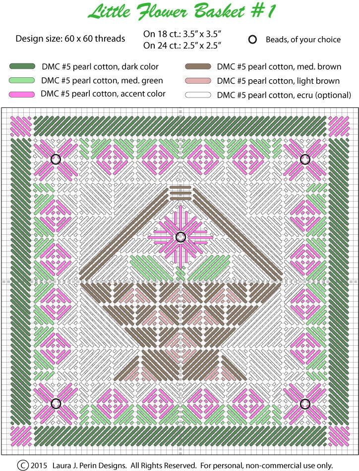Two-Handed Stitcher: Little Flower Basket #1 | multipunto ...