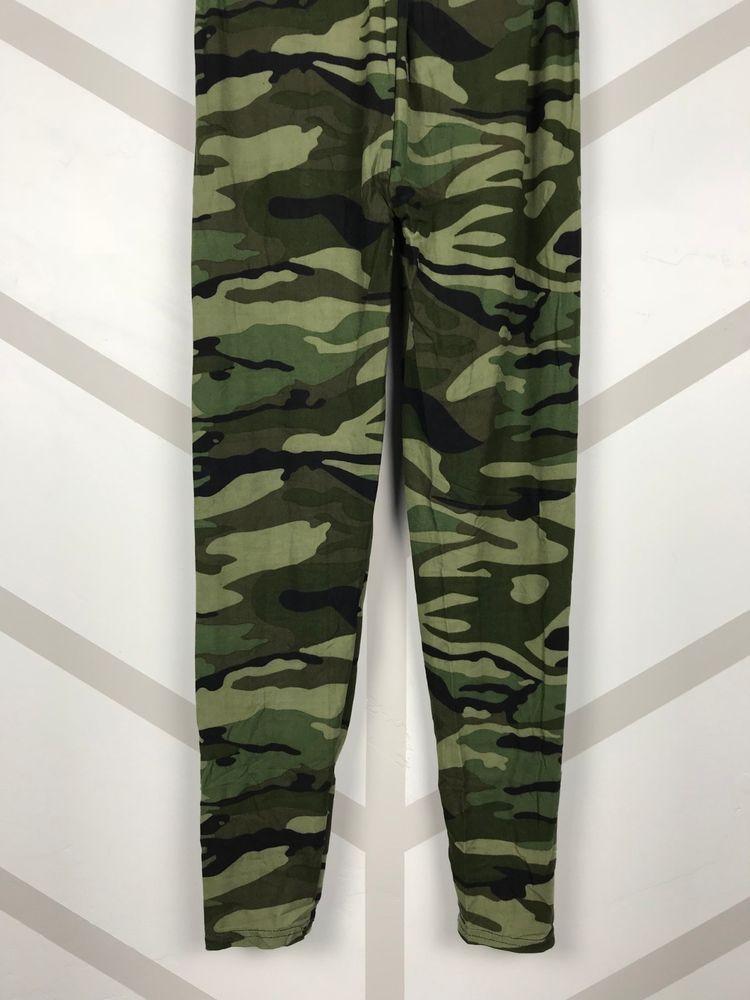LULAROE OS Leggings One Size Green Camouflage Camo New Print NWT Hot