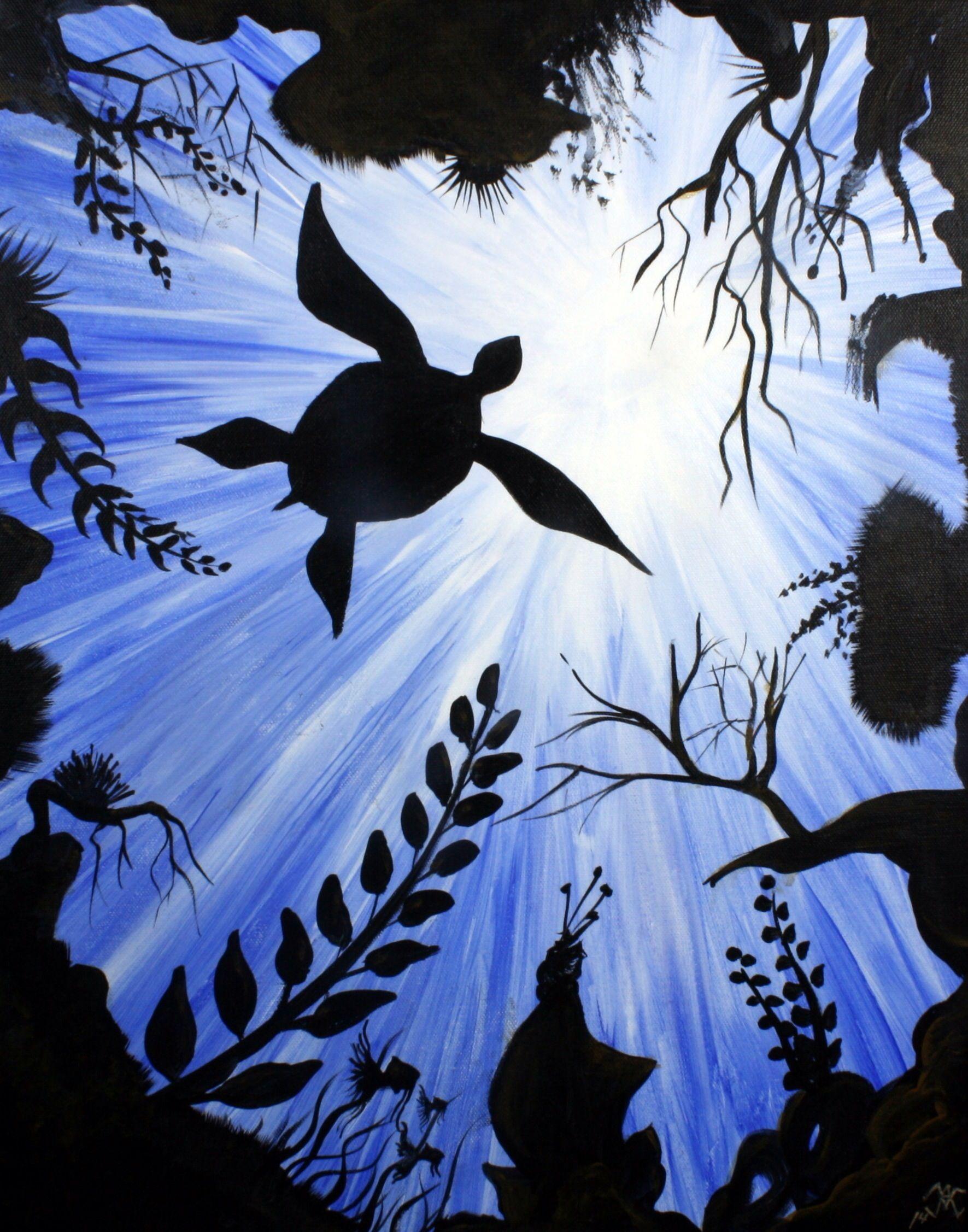 Sea Turtle Acrylic Beginners Painting. Visit
