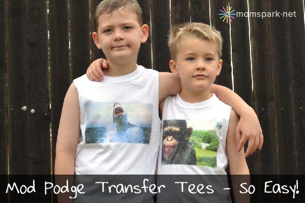 Mod Podge Transfer Tees Tutorial! #modpodge #diy #crafts