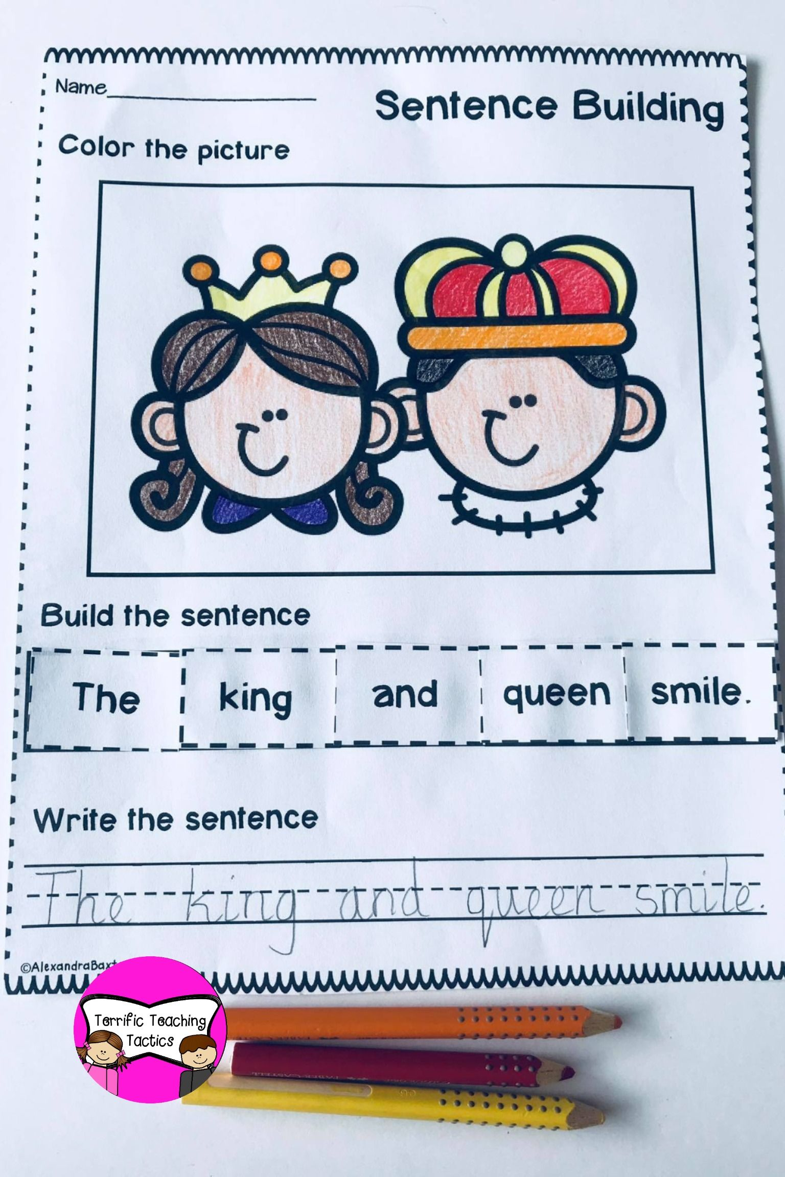 Fairy Tale Themed Sentence Building In