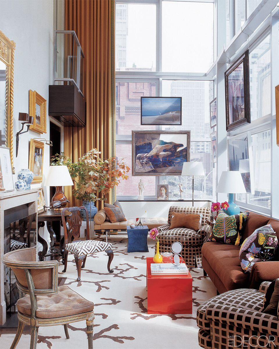 Eclectic Apartment Living Room Elle Decor Interior Decor
