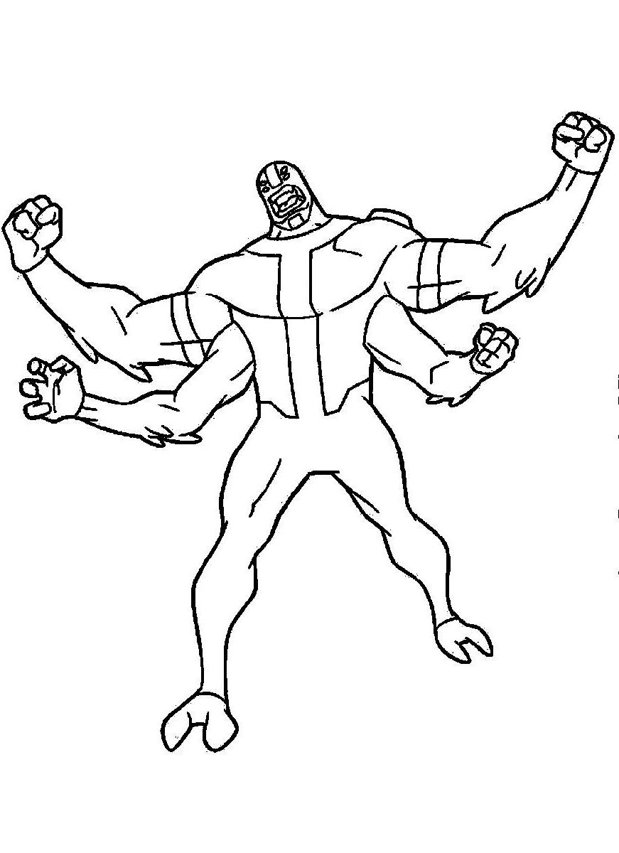 Ben 10 Four Arms Coloring Pages For Boys Educative Printable Mickey Coloring Pages Coloring Pages Unicorn Coloring Pages